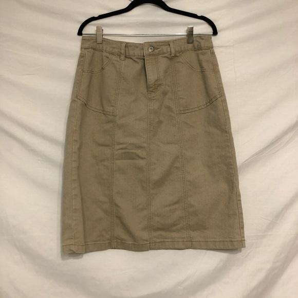 Christopher & Banks tan skirt
